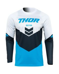 Thor MX Youth Sector Chevron Jersey Blue - Navy 2022 Model