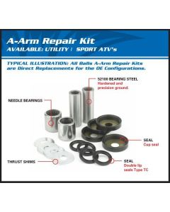 Can Am Wildcat 4 Front A-Arm Bearing & Seal Kit