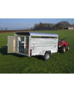 7'6 x 4'6 Solid Side Livestock Canopy Trailer Road Legal