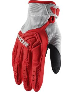 Thor MX Youth Spectrum S20 Gloves Red - Gray