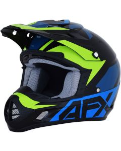 AFX FX-17 Youth Kids ACE Blue/Lime MX Motorcycle Helmet