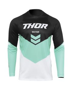 Thor MX Youth Sector Chevron Jersey Black - Mint 2022 Model