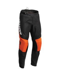 Thor MX Youth Sector Chev Pants Charcoal - Orange 2022 Model