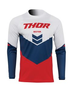 Thor MX Youth Sector Chevron Jersey Red - Navy 2022 Model