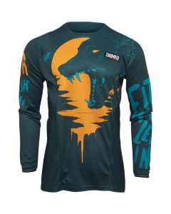 Thor MX Youth Counting Sheep Jersey Tangerine - Teal 2022 Model