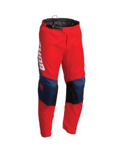 Thor MX Youth Sector Chev Pants Red - Navy 2022 Model