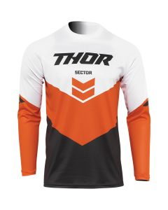 Thor MX Youth Sector Chevron Jersey Charcoal - Red Orange 2022 Model