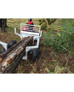 ATV Wood Log Lugger Timber Trailer - Suitable for UTV's Small Tractors etc.
