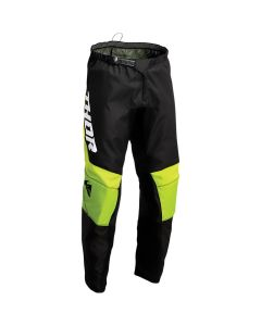 Thor MX Youth Sector Chev Pants Black - Green 2022 Model